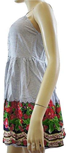 LipsyDamen Kleid, Gestreift Mehrfarbig White Blue Striped (Floral)