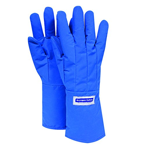 National Safety Apparel Large 3M Scotchlite Thinsulate Lined Nylon Taslan And PTFE Mid-Arm Length Waterproof Cryogen Gloves