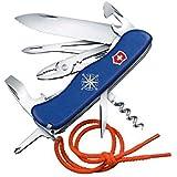 Victorinox Taschenmesser Skipper mit Nylonkordel (17 Funktionen, Feststellklinge mit Wellenschliff, Kombizange) blau
