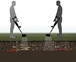 Detector de metales Treasure Hunter, Alta Sensibilidad Pantalla LCD a prueba de agua Detector de oro Detección de pinpointer Detector de metales subterráneo ...