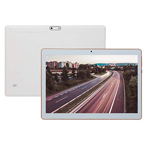 Wivarra 10.1 Inch Tablet Android 4.4, Quad Core IPS 2 + 32GB Dual Card 3G Call Dual Cameras Tablet,White(UK Plug)
