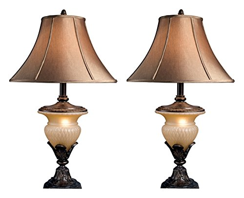 Lamp Night Base Table Light (Ashley Furniture Signature Design - Danielle Traditional Table Lamps - Traditional - Classic - Beige & Brown)