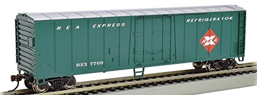 Express Reefer (Bachmann Trains 17957 ACF 50' Steel Reefer - Railway Express - N Scale, Prototypical Colors)