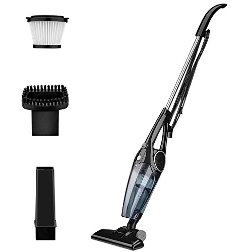 Homasy 2-in-1 Stick Vacuum & Handheld Vacuum, Lightweight Corded Bagless Upright Vacuum Cleaner, 12Kpa Strong Suction Stick vacuum with HEPA Filtration, Suitable for Pet Hair, Dust Cleaning
