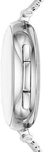 Skagen Connected Women's Signatur T-Bar Stainless Steel Mesh Hybrid Smartwatch, Color: Silver (Model: SKT1400) 5