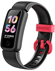 BIGGERFIVE Vigor Fitness Tracker Watch for Kids Girls Boys Teens, Activity Tracker, Pedometer, Heart Rate Sleep Monitor, IP68 Waterproof Calorie Step Counter Watch with Alarm Clock