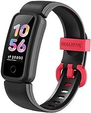 BIGGERFIVE Vigor Fitness Tracker Watch for Kids Girls Boys Teens, Activity Tracker, Pedometer, Heart Rate Slee