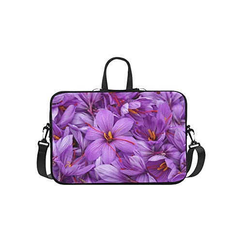 (Laptop Bag A Blooming Saffron Shoulder Bag Crossbody Bag Double Zipper for Men Women Students Teens Business Travelling Work College )