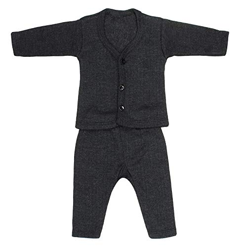 Sikander™ Front Open Baby Thermal Set, Pack of 3 (Grey, Blue, Brown)