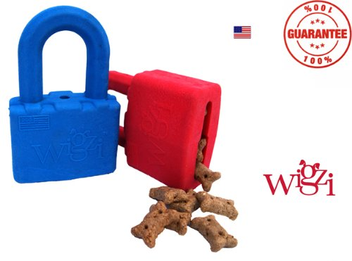 Small Blue Lock n' Play Interactive Adult Dog Toy, My Pet Supplies
