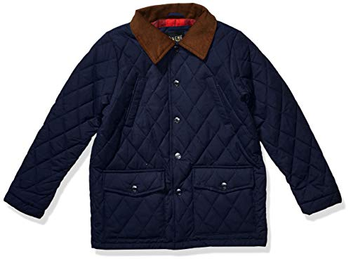 iXtreme Boys' Big Sueded Microfiber Quilted Jacket, Navy, 10/12 (Quilted Kids Jacket)