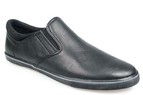 Pod - Hombres - Zapatos Modelo Fen - Mocasines Negros - Tallas 40 a 51-47 EU / 13 UK / 14 US, Negro: Amazon.es: Zapatos y complementos