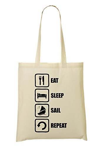 Repeat Fourre à Eat Funny provisions Sail Sleep Black Graphic Sac Sac tout 0w0ZU1Enqx