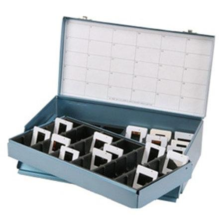 Logan Electric Slide File, Archival Double Decker Metal Storage Box Holds 1500 2x2 Mounted Slides in Groups by Logan