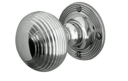 reeded mortice door knob - polished chrome from e-hardware: Amazon ...