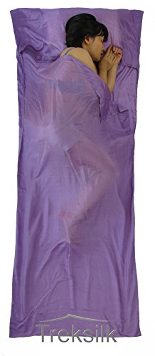 Lavender Mulberry - TREKSILK: LAVENDER 100% MULBERRY SINGLE SILK LINER Sleeping Bag Inner Sheet Travel Sleep Sack