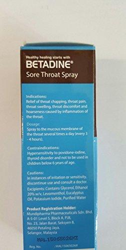 Betadine - Spray para garganta y boca de 50 ml de alivio de dolor: Amazon.es: Salud y cuidado personal
