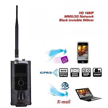 HC-700G Cámara de Caza 3G GPRS MMS SMTP SMS 16MP 1080P 120 Grados PIR 940NM Infrarrojos Wildlife Visión Nocturna Trail Camaras Trap: Amazon.es: Deportes y ...