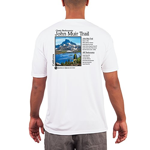 American Backcountry Men's John Muir Trail UPF 50+ Short Sleeve T-shirtLarge White