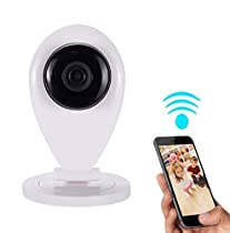 QTMY Home Camera Wireless WiFi IP Security Surveillance System with Motion Email Alert