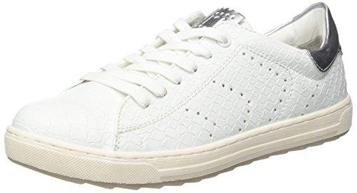 Marco Tozzi 23609, Zapatillas para Mujer Blanco (White Str.comb 112)