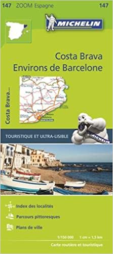Carte Michelin Zoom Espagne.Amazon Fr Carte Environs De Barcelone Costa Brava