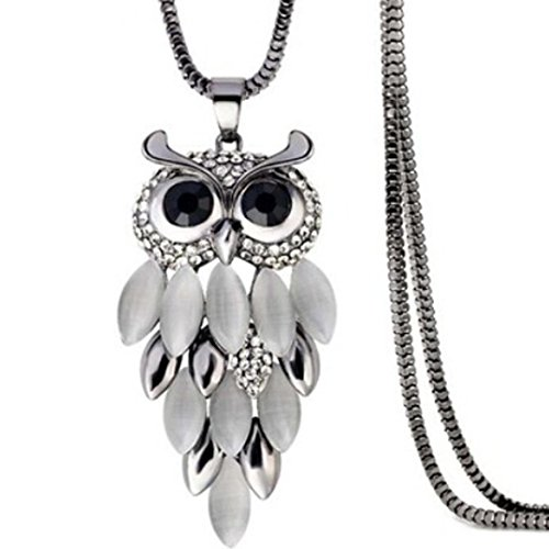 Hmlai Clearance! Women Fashion Bohemia Retro Owl Turquoise Necklace Delicate Carved Jewelry Mother's Day Gift