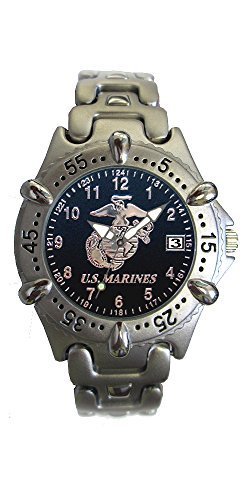 U.S. Marine Corps Brass Mens Watch - 30m Water Resistant by Aquaforce