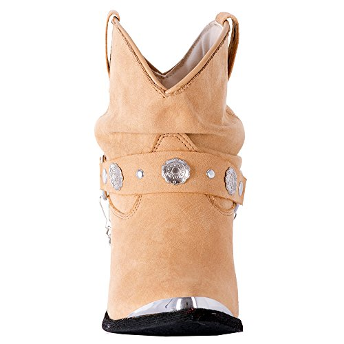 Fashion Womens Tan Fiona Boots Toe Dancer M Western Dingo DI8941 7 wq1EUIC