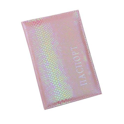 Longra Copertina morbida per passaporto per porta biglietti da visita con lucchetto per passaporto (Rosa) Venta Barata Explorar 100% Auténtico En Venta g2t5k3