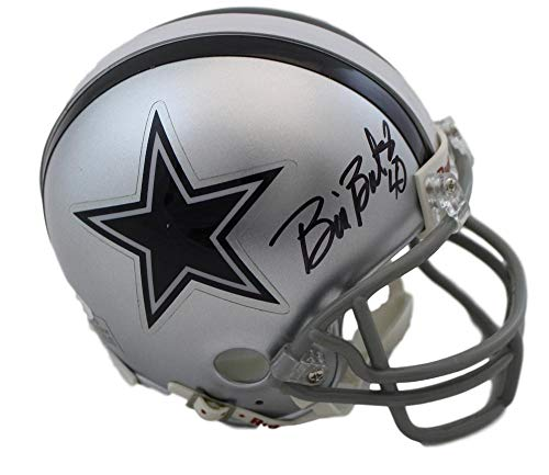 Bill Bates Autographed/Signed Dallas Cowboys Riddell Mini Helmet JSA