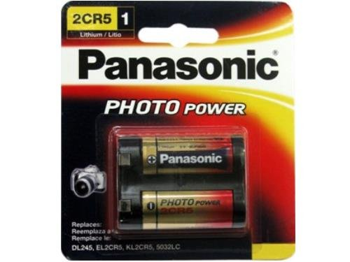 Panasonic 2Cr5 6 Volt Photo Lithium Battery (245, Dl245, El2Cr5)