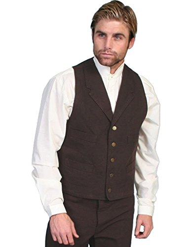 Scully Rangewear Men's Rangewear Walnut Frontier Vest Walnut X-Large
