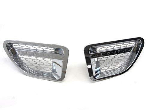 06-09 Land Rover Range Rover Sport Side Vent Grille Chrome Edge Silver Mesh