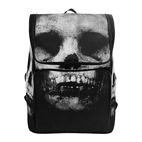 ALLMILL Backpack Halloween Scary Grunge Background Spooky Skull Lightweight Travel Bag Hiking Knapsack College Student School Bookbag Travel Daypack for men women