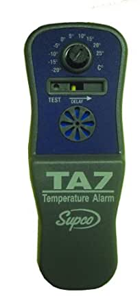 Supco TA7 Battery Operated Temperature Alarm, -10 to 80 Degrees F, 9V Alkaline Battery