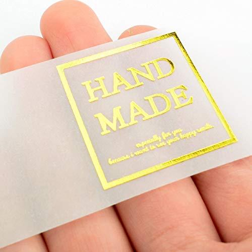 CHAWOORIM Pegatinas de jabón Hechas a Mano, Etiquetas de Embalaje, Tracing Paper Labels, Mediano, 1