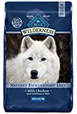 Cheap Blue Buffalo Wilderness High Protein Grain Free, Natural Senior Dry Dog Food, Chicken 24-lb