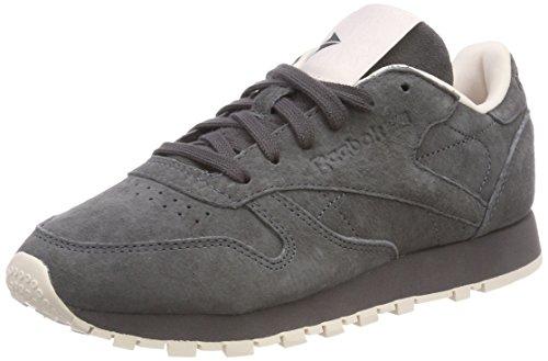 Reebok Classic Leather Tonal NBK, Sneakers Basses Femme, Gris (Ash Grey/Pale Pink), 35 EU