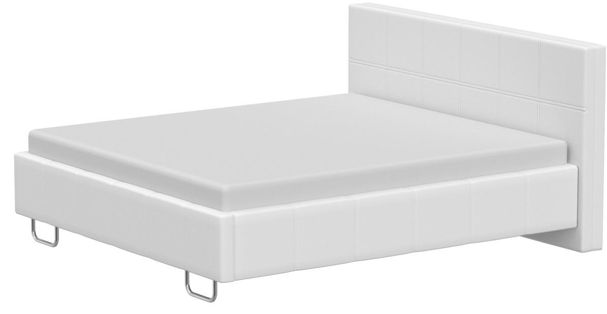 muebles bonitos Cama de Matrimonio Moderna Sofia con somier de láminas para colchón de 180x200cm Blanco diseño Italiano Elegante