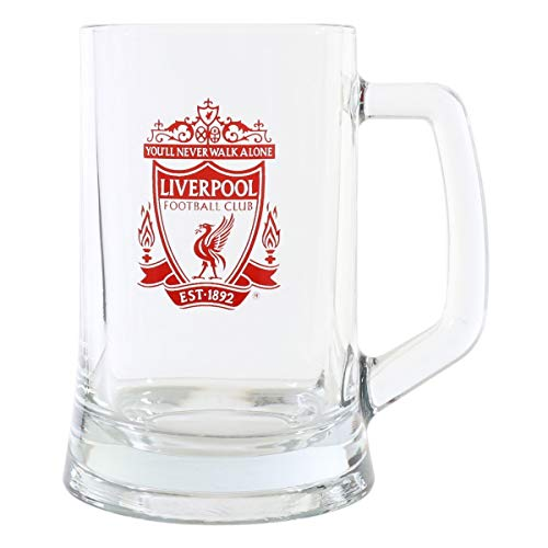 Liverpool FC Official Football Gift Glass Tankard – A Great Christmas/Birthday Gift Idea For Men And Boys