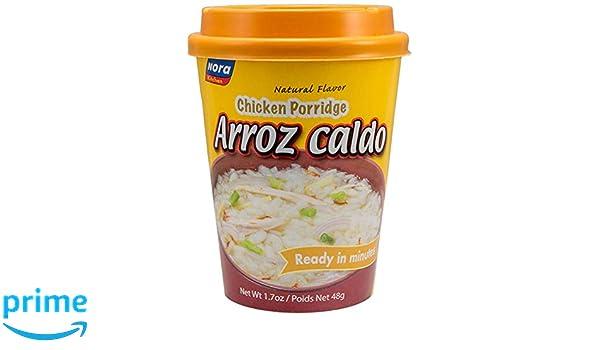 Amazon.com : Nora Kitchen - Arroz Caldo (Natural Flavor Chicken Porridge), 1.7oz (48g) : Grocery & Gourmet Food
