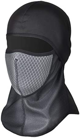 BIYI Outdoor Windproof Cycling Mask Riding Bicycle Warm Half Face Ski Mask Black