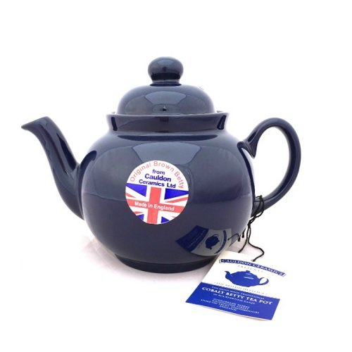 Hand Made Brown Betty 4 Cup Teapot in Cobalt Blue (Cobalt Betty) Cauldon Ceramics