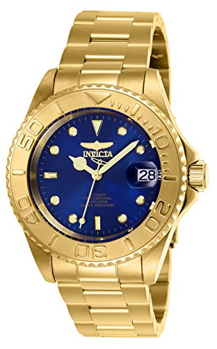 - Invicta Men's Pro Diver Automatic-self-Wind Stainless-Steel Strap, Gold, 20 Casual Watch (Model: 26997)