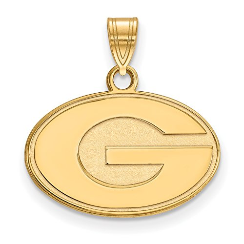 University of Georgia Bulldogs Logo Pendant Charm (gold plated, extra small)