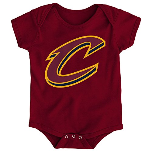 - NBA Infant Cleveland Cavaliers Primary Logo Short Sleeve Creeper-Garnet-24 Months