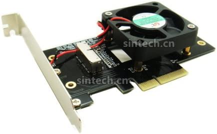 Late 2013-2015 2013-2017 and MacBook PRO Sintech 28Pin to PCI-e Adapter Card,Compatible for SSD from MacBook Air with Fan