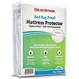 Guardmax Bed Bug Proof Mattress Encasement Protector Zippered Style, 100% Waterproof Cover, Hypoallergenic and Breathable, Soft and Noiseless - King Size (78x80x11)