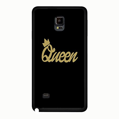 Best Friend Lovers Samsung Galaxy Note 4 Case,Retro Style King And Queen Couple Matching Phone Case Cover for Samsung Galaxy Note 4 Boyfriend And Girlfriend Vintage